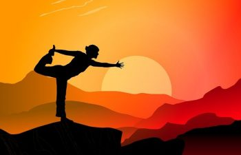 Yoga Sunset Mountains Sport People  - mohamed_hassan / Pixabay